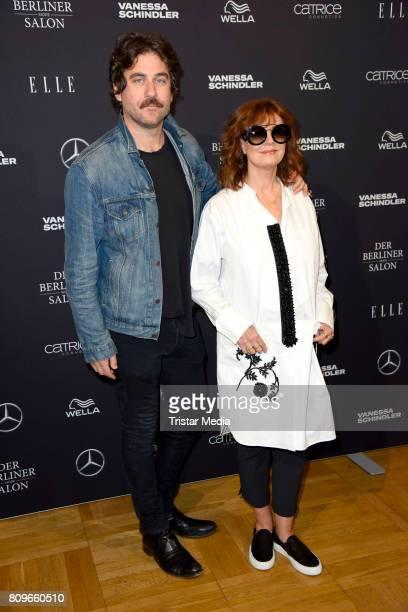 Bryn Mooser and Susan Sarandon during the Vanessa Schindler presented by MercedesBenz ELLE defile during 'Der Berliner Mode Salon' Spring/Summer 2018...