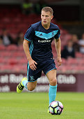 Bryn Morris of Middlesbrough runs with the ball during the pre season friendly match between York City and Middlesbrough at Bootham Crescent on July...