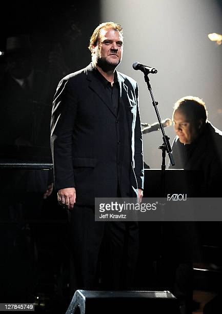 Bryn Terfel performs on stage during STING 25th Anniversary/60th Birthday Concert to Benefit Robin Hood Foundation at Beacon Theatre on October 1...