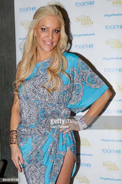 Brynne Edelsten arrives ahead of the St Kilda Festival Rooftop Party on February 12 2017 in Melbourne Australia