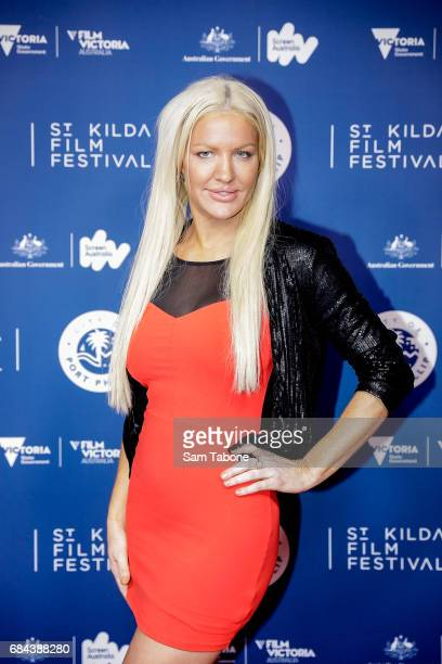 Brynne Edelsten arrives ahead of the St Kilda Film Festival 2017 Opening Night at Palais Theatre on May 18 2017 in Melbourne Australia