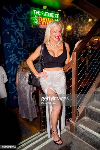 Brynne Edelsten arrives at Pawn Co on March 21 2017 in Melbourne Australia