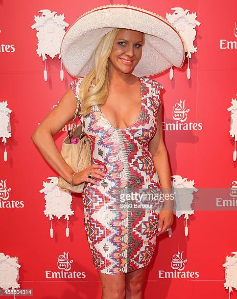 Brynne Edelsten at the Emirates Marquee on Oaks Day at Flemington Racecourse on November 6 2014 in Melbourne Australia