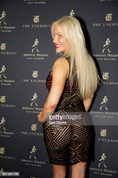 Brynne Edelsten attends the 2017 Johnnie Walker Grand Prix Penthouse Party on March 25 2017 in Melbourne Australia
