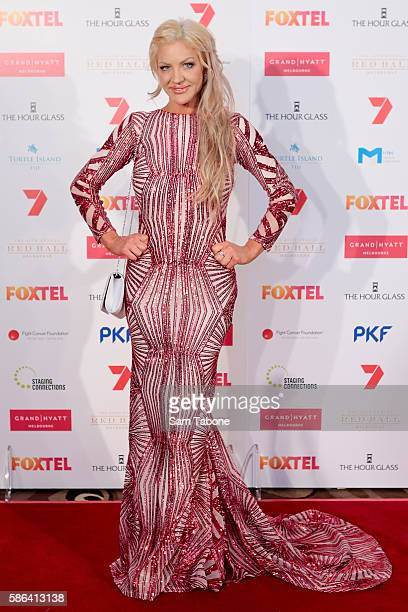 Brynne Edelsten Attends the 24th Anniversary Red ball on August 6 2016 in Melbourne Australia