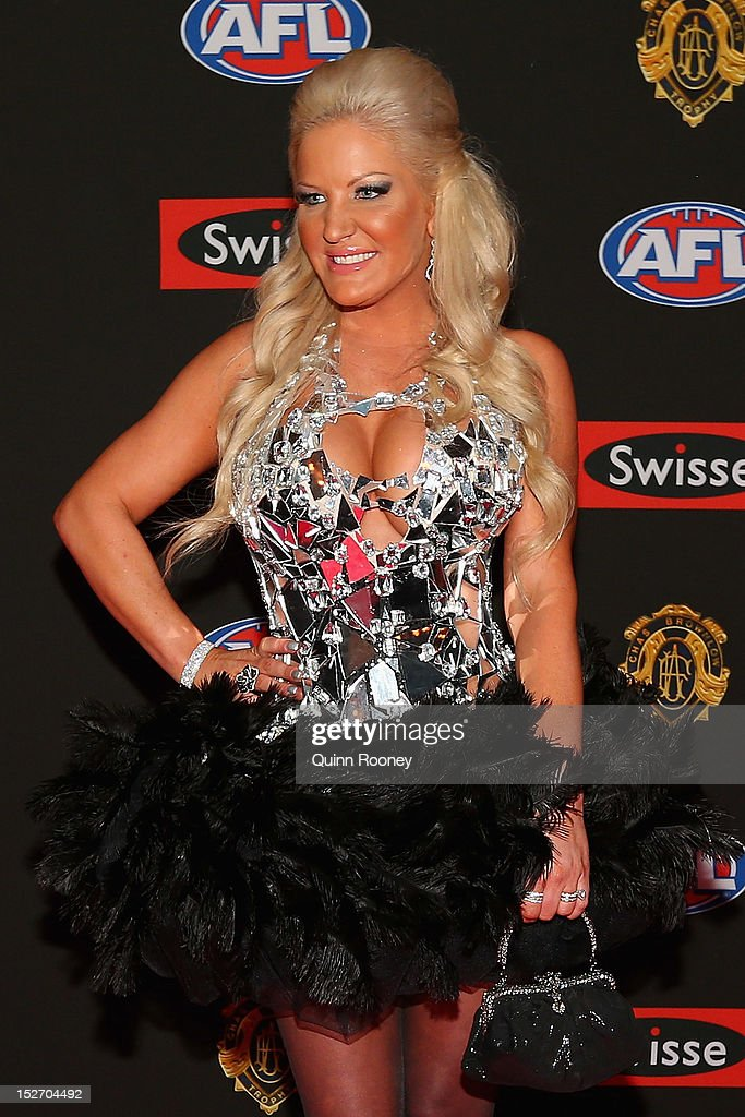 Brynne Edelsten poses ahead of the 2012 Brownlow Medal at Crown Palladium on September 24, 2012 in Melbourne, Australia.