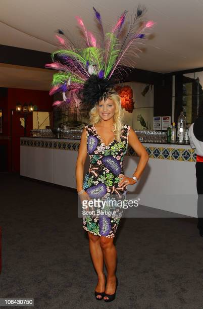 Brynne GordonEdelsten attends the Emirates marquee during Emirates Melbourne Cup Day at Flemington Racecourse on November 2 2010 in Melbourne...