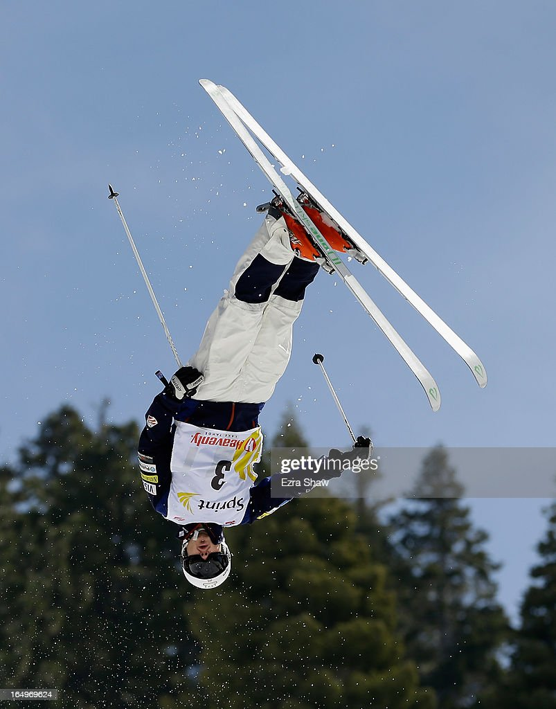 Bryon Wilson competes in the Men's Moguls at the U.S. Freestyle Moguls National Championship at Heavenly Resort on March 29, 2013 in South Lake Tahoe, California. Wilson finshed in second place behind his brother, Bradley.