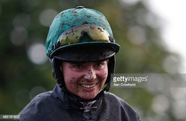 Bryony Frost poses at Fontwell racecourse on August 25 2015 in Fontwell England