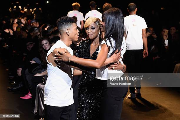 Bryshere Gray Mary J Blige and Naomi Campbell walk the runway at Naomi Campbell's Fashion For Relief Charity Fashion Show during MercedesBenz Fashion...
