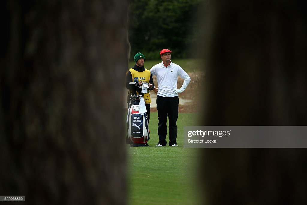 Bryson DeChambeau during the first round of the 2016 RBC Heritage at Harbour Town Golf Links on April 14, 2016 in Hilton Head Island, South Carolina.