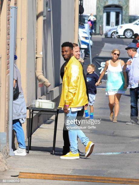 Bryson Tiller is seen at 'Jimmy Kimmel Live' on August 14 2017 in Los Angeles California