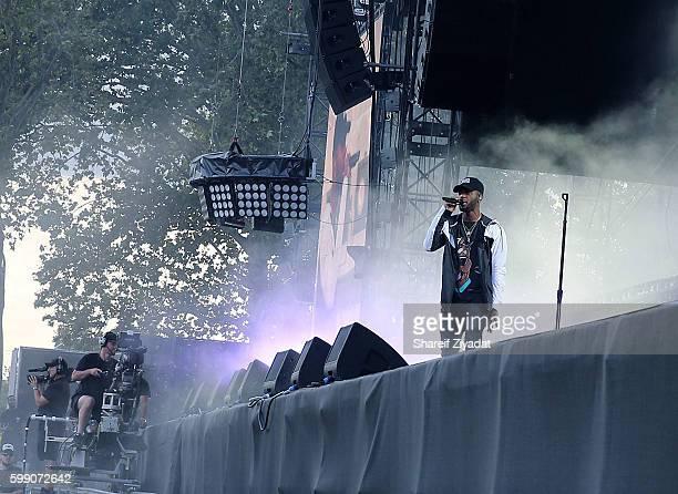 Bryson Tiller performs at 2016 Budweiser Made In America Festival Day 1 on September 3 2016 in Philadelphia Pennsylvania