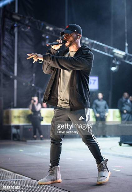 Bryson Tiller performs at the 2016 Hot 97 Summer Jam at MetLife Stadium on June 5 2016 in East Rutherford New Jersey