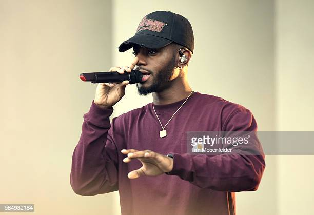 Bryson Tiller performs during Lollapalooza at Grant Park on July 31 2016 in Chicago Illinois