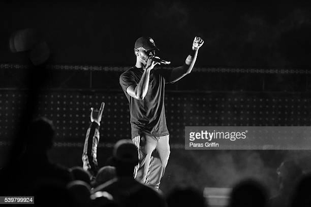 Bryson Tiller performs in concert at Chastain Park Amphitheater on June 12 2016 in Atlanta Georgia