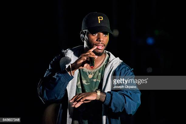 Bryson Tiller performs on Day 1 of Wireless Festival at Finsbury Park on July 8 2016 in London England