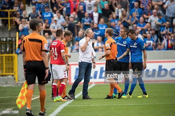 bt1 Michel Preud'homme head coach of Club Brugge during the Jupiler Pro League match between Club Brugge and Standard de Liege at the Jan Breyden...