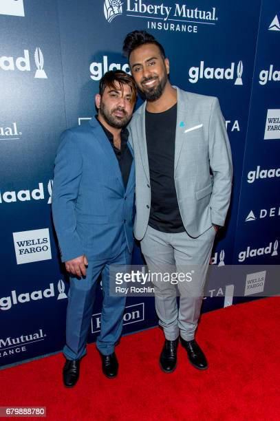 Btoo Allami and Nayyef Hrebid attend the 28th Annual GLAAD Awards at New York Hilton Midtown on May 6 2017 in New York City