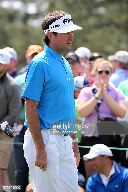 Bubba Watson during the practice round for the 2015 Masters Tournament at the Augusta National Golf Club in Augusta Georgia