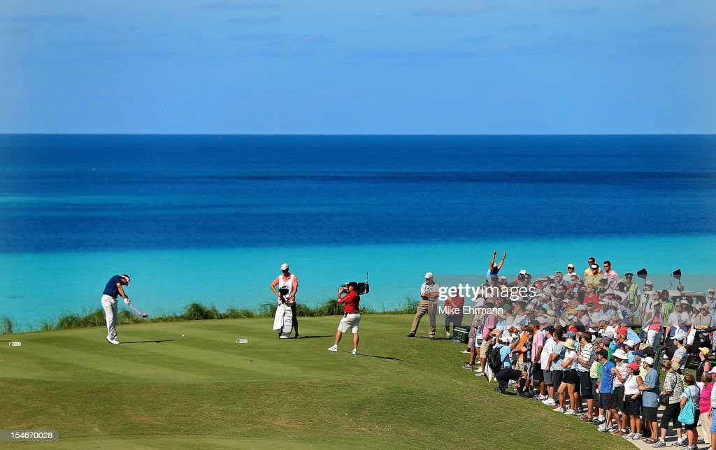 Bubba Watson of the United States hits his tee shot on the ninth hole during the final round of the PGA Grand Slam of Golf at Port Royal Golf Course on October 24, 2012 in Southampton, Bermuda.