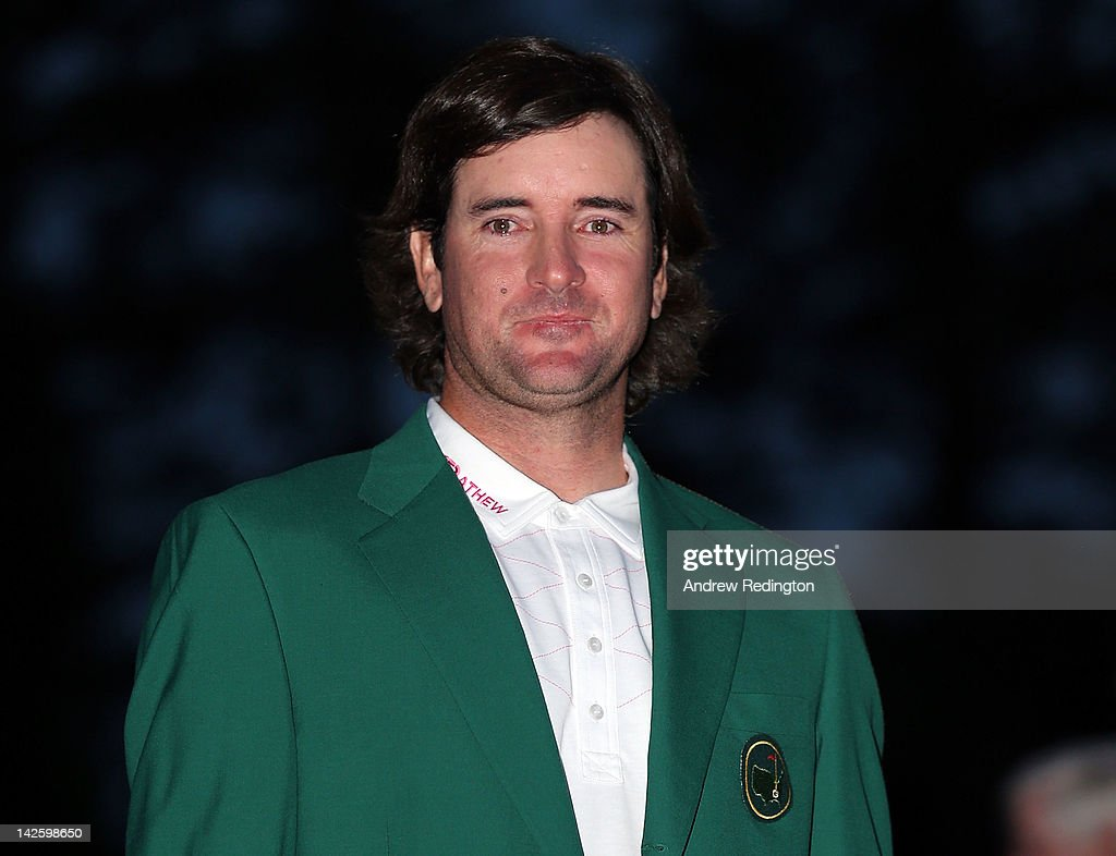 <a gi-track='captionPersonalityLinkClicked' href=/galleries/search?phrase=Bubba+Watson&family=editorial&specificpeople=597658 ng-click='$event.stopPropagation()'>Bubba Watson</a> of the United States looks on after his one-stroke playoff victory to win the 2012 Masters Tournament during the green jacket presentation at Augusta National Golf Club on April 8, 2012 in Augusta, Georgia.