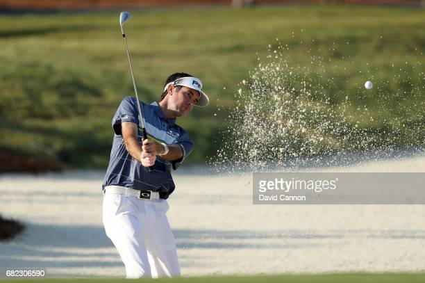 Bubba Watson of the United States plays his fourth shot on the par 4 10th hole during the second round of THE PLAYERS Championship on the Stadium...