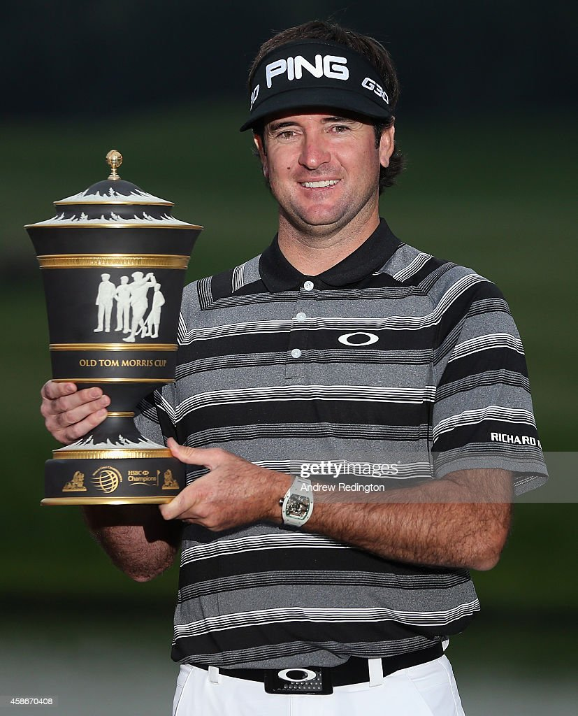 <a gi-track='captionPersonalityLinkClicked' href=/galleries/search?phrase=Bubba+Watson&family=editorial&specificpeople=597658 ng-click='$event.stopPropagation()'>Bubba Watson</a> of the USA poses with the trophy after winning the WGC - HSBC Champions at the Sheshan International Golf Club on November 9, 2014 in Shanghai, China.