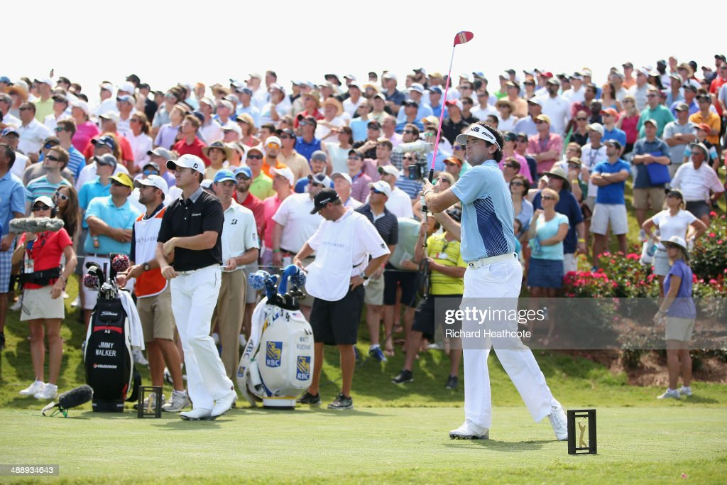 <a gi-track='captionPersonalityLinkClicked' href=/galleries/search?phrase=Bubba+Watson&family=editorial&specificpeople=597658 ng-click='$event.stopPropagation()'>Bubba Watson</a> of the USA tee's off at the 18th during the second round of THE PLAYERS Championship on The Stadium Course at TPC Sawgrass on May 9, 2014 in Ponte Vedra Beach, Florida.