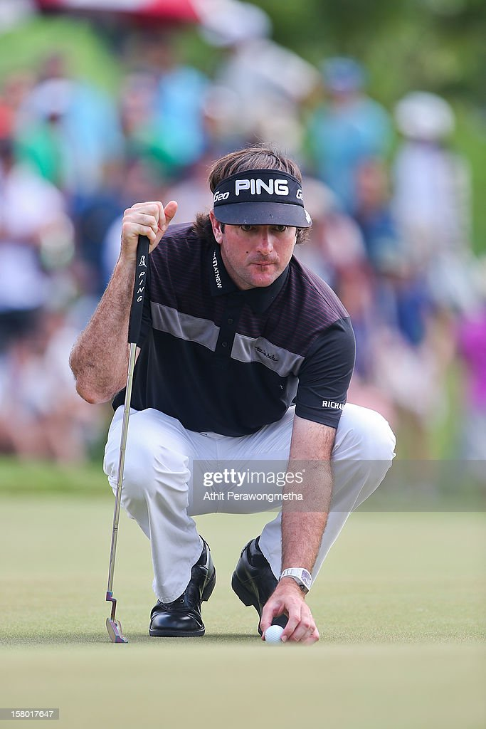 Bubba Watson of United States in action during round four of the Thailand Golf Championship at Amata Spring Country Club on December 9, 2012 in Bangkok, Thailand.