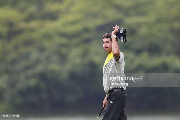 Bubba Watson of United States looks on during the final round of the Shenzhen International at Genzon Golf Club on April 24 2016 in Shenzhen China