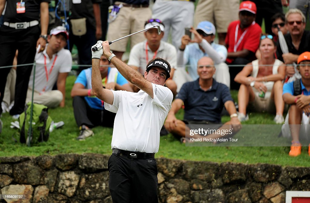 Bubba Watson of USA in action during round two of the CIMB Classic at Kuala Lumpur Golf & Country Club on October 25, 2013 in Kuala Lumpur, Malaysia.