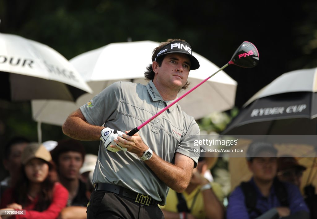 Bubba Watson of USA plays a shot during round three of the Thailand Golf Championship at Amata Spring Country Club on December 8, 2012 in Bangkok, Thailand.