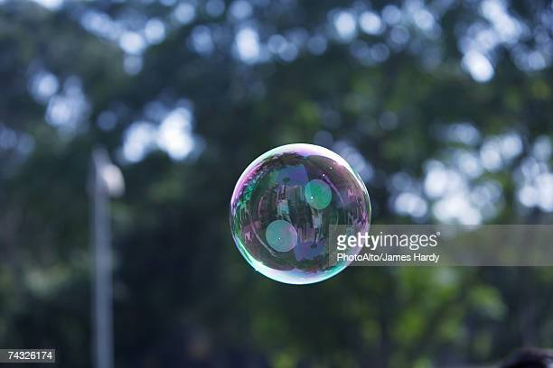 Bubble floating in air