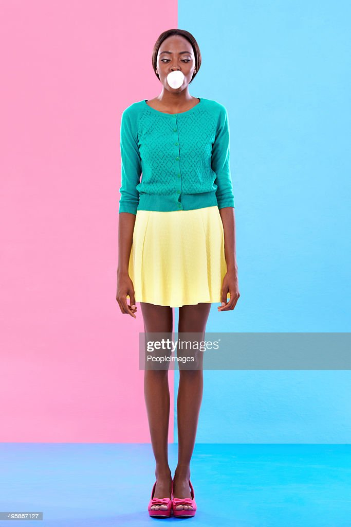 Bubble gum hipster : Stock Photo