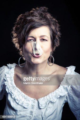 Bubble gum : Foto de stock
