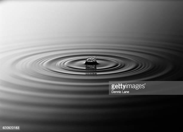 Bubble in rippling water