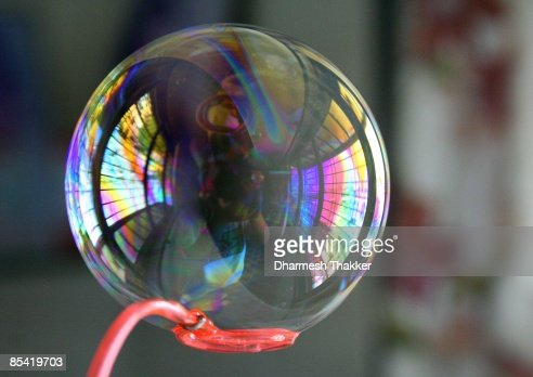 Bubble on bubble wand