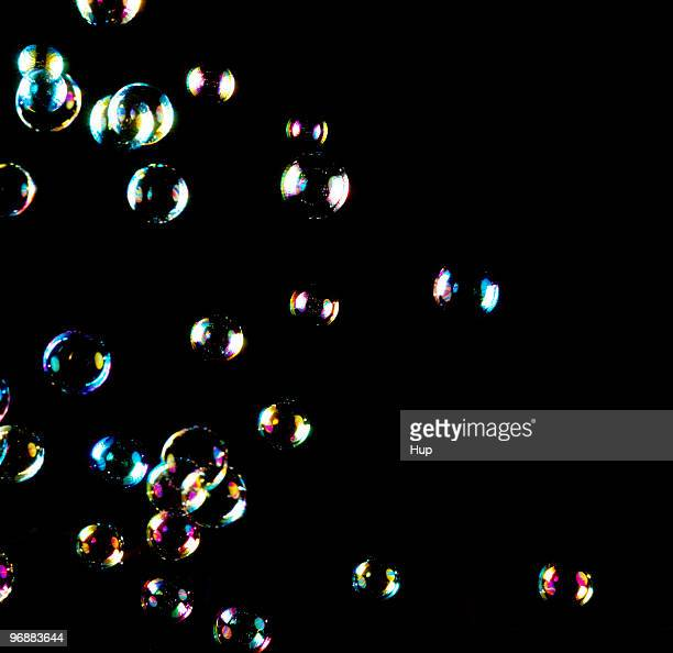 Bubbles against black