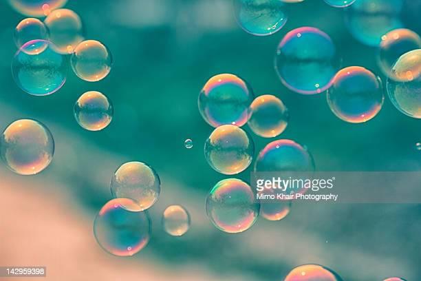 Bubbles in blue tone
