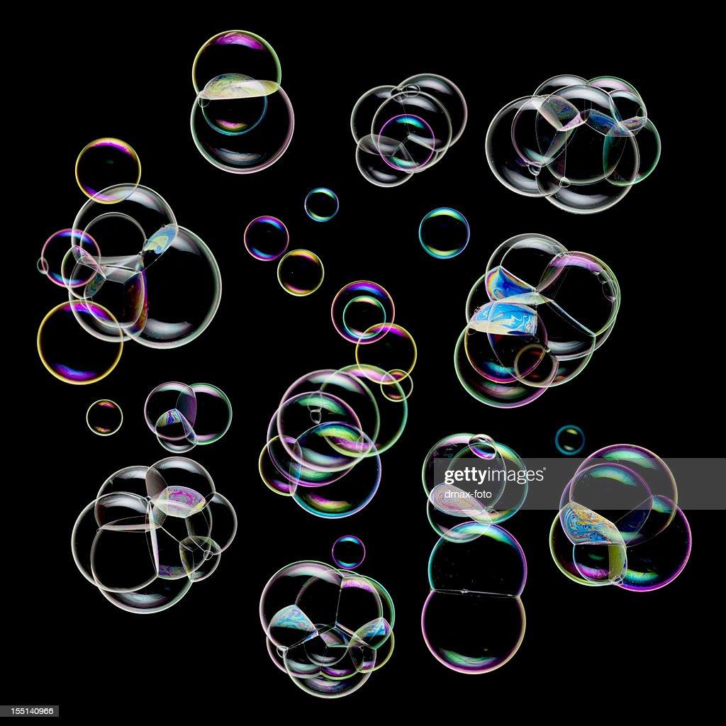 bubbles on black