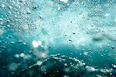 Bubbles underwater, Sydney Australia