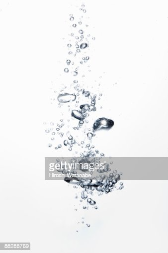 Bubbles rising through water