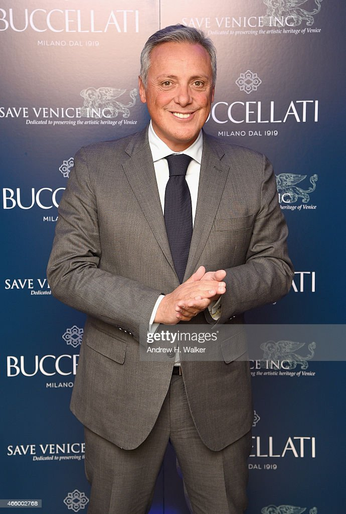 Buccellati CEO Alberto Milani attends Timeless Blue, Buccellati New York Flagship Opening Celebration on March 12, 2015 in New York City.
