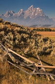 Buck and rail fence Grand Teton National Park