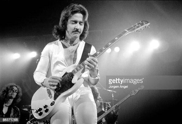 Buck Dharma of the band Blue Oyster Cult performs on stage on October 27th 1975 in Copenhagen Denmark