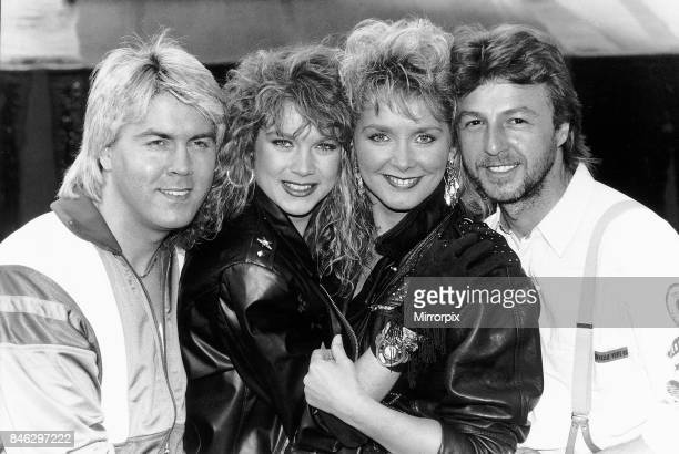 Buck Fizz British pop group who won the Eurovision Song Contest with their song Making Your Mind Upfrom left to right Mike Nolan Shelly Preston...