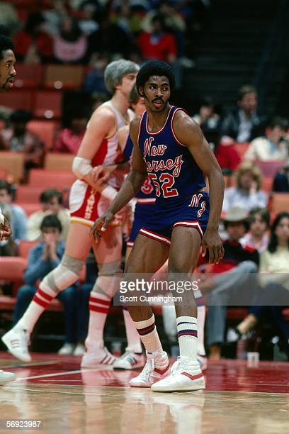 Buck Williams of the New Jersey Nets defends against the Atlanta Hawks during an NBA game at the Omni circa 1982 in Atlanta Georgia NOTE TO USER User...