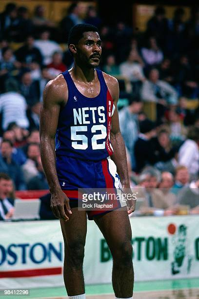 Buck Williams of the New Jersey Nets stands during a game played in 1989 at the Boston Garden in Boston Massachusetts NOTE TO USER User expressly...