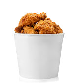 Bucket of fried chicken.  Please see my portfolio for  other food and drink images.